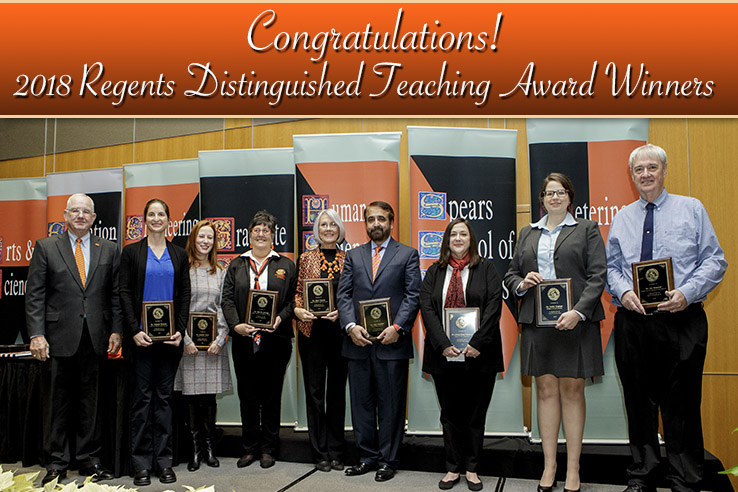 2018_Regents_Distinguished_Teaching_Award_Winners