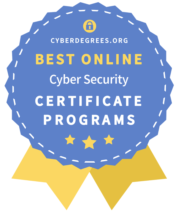 top cyber security certificate award