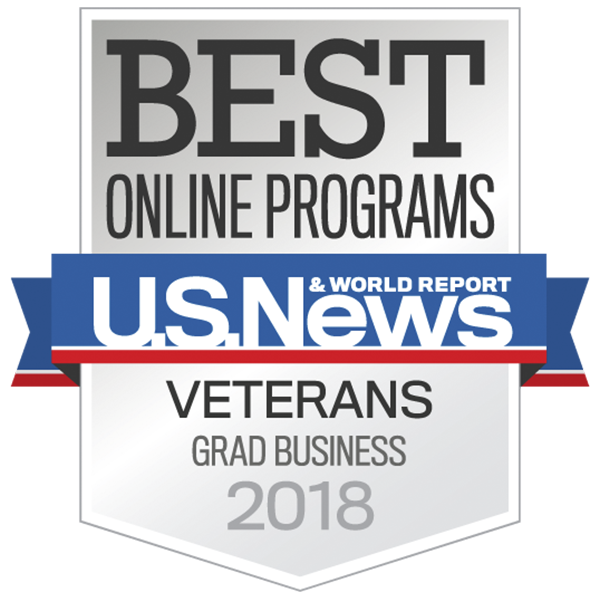 top graduate business college for vets award